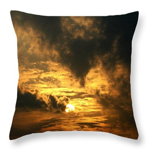 Daybreak Throw Pillow featuring the photograph Alter Daybreak by Rhonda Barrett
