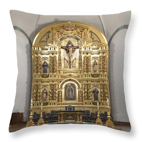 Architecture Throw Pillow featuring the photograph Alter San Juan Capistrano by Bob Christopher