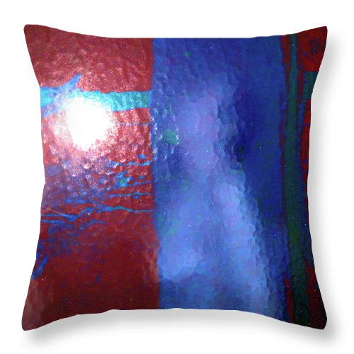 Abstract Throw Pillow featuring the photograph Alternate Reality Meets Naked Truth 3 by Lenore Senior