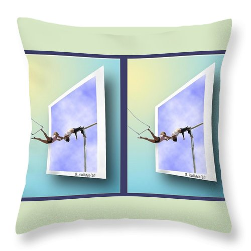 3d Throw Pillow featuring the photograph Alternate Universes - Gently Cross Your Eyes And Focus On The Middle Image by Brian Wallace