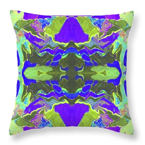 Throw Pillow featuring the painting Alverno Lavender by Susan Price