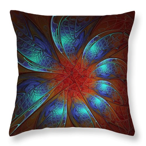 Digital Art Throw Pillow featuring the digital art Always and Forever by Amanda Moore
