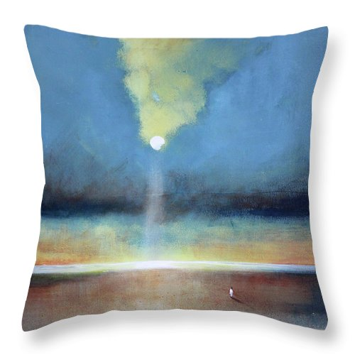 Moon Throw Pillow featuring the painting Always Hopeful by Toni Grote
