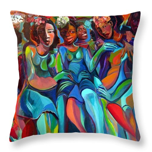 Women Throw Pillow featuring the painting Always by Joyce Owens