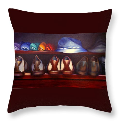 Golf Throw Pillow featuring the painting Always Options by Shannon Grissom