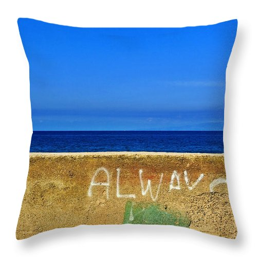 Graffiti Throw Pillow featuring the photograph Always by Silvia Ganora