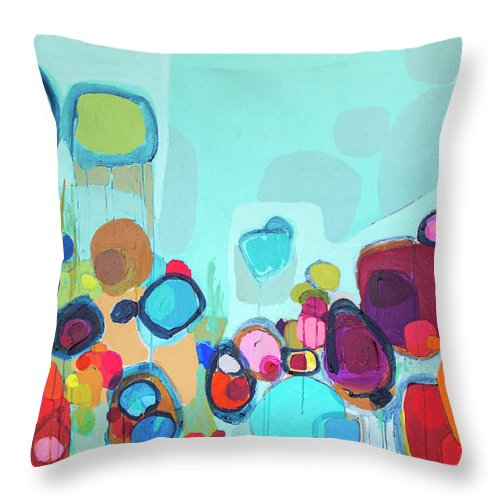 Abstract Throw Pillow featuring the painting Always Will Be by Claire Desjardins