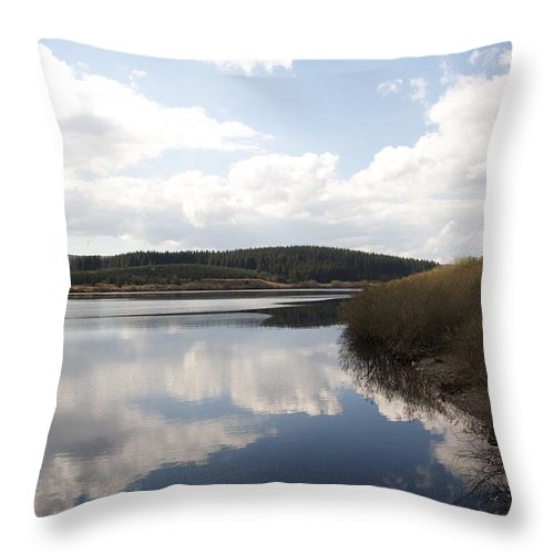 Reservoirs Throw Pillow featuring the photograph Alwen Reservoir by Christopher Rowlands