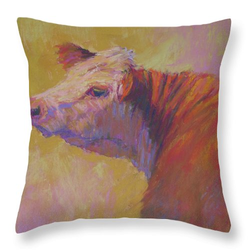 Animals Throw Pillow featuring the painting Alyona by Susan Williamson