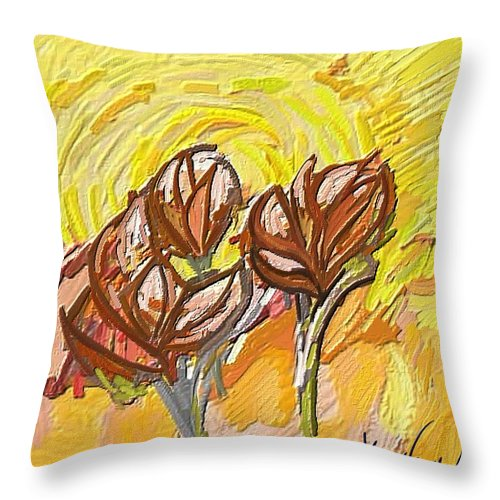 Figurative Throw Pillow featuring the painting Amapoles by Xavier Ferrer