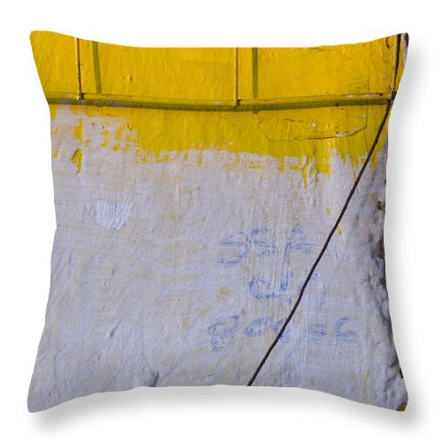 Abstract Throw Pillow featuring the photograph Amarillo by Skip Hunt
