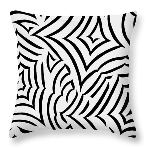 Black Throw Pillow featuring the painting Amazed by Tara Hutton