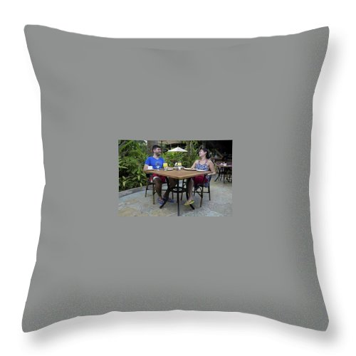 Adults Only Resort Negril Throw Pillow featuring the photograph Amazing Adults Only Resorts In Negril by Gabriel Gibson