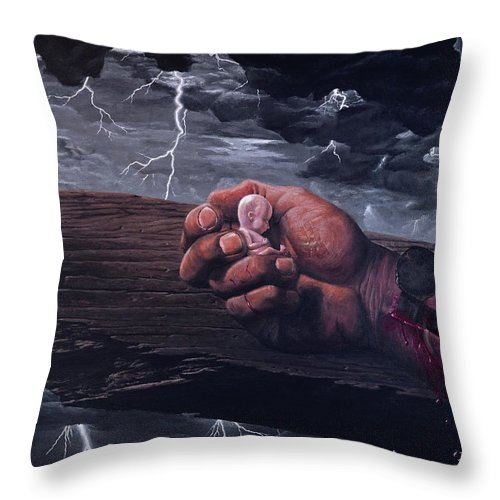 Spiritual Throw Pillow featuring the painting Amazing Grace by Bill Stephens