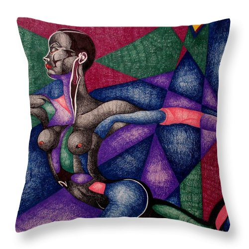 Women Throw Pillow featuring the drawing Amazing Grace by Nelson F Martinez