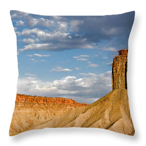 Mountain Throw Pillow featuring the photograph Amazing Mesa Verde Country by Christine Till