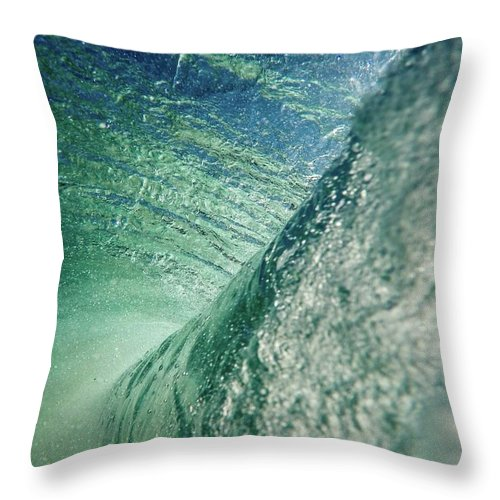 Waves Throw Pillow featuring the photograph Amazing Wave by Sebastian Musial