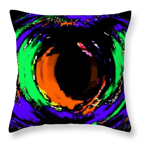 Abstract Throw Pillow featuring the digital art Amber Eye by Will Borden