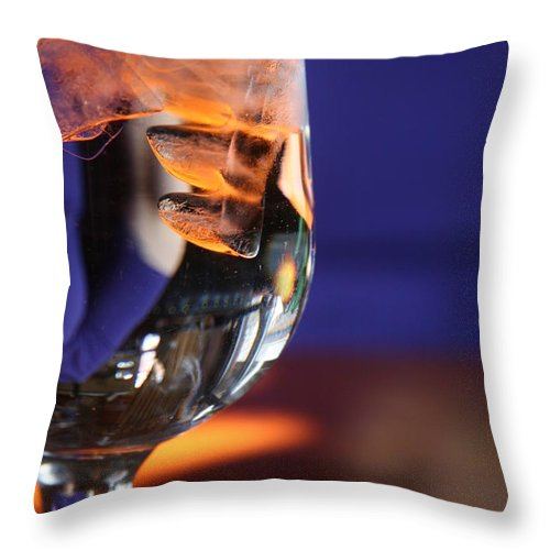 Water Throw Pillow featuring the photograph Amber Ice by JoJo Photography