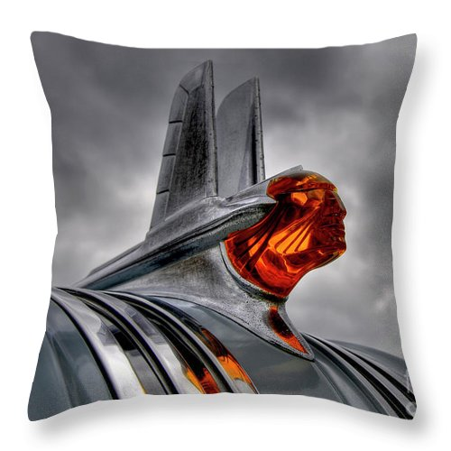 Car Throw Pillow featuring the photograph Amber Pontiac One by Trey Foerster