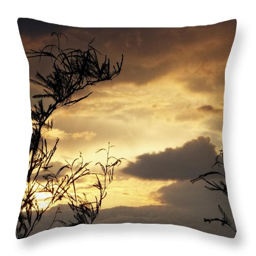Amber Sky Throw Pillow featuring the photograph Amber Sky by Glenn McCarthy Art and Photography