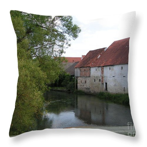 Amberg Throw Pillow featuring the photograph Amberg by Karen Granado