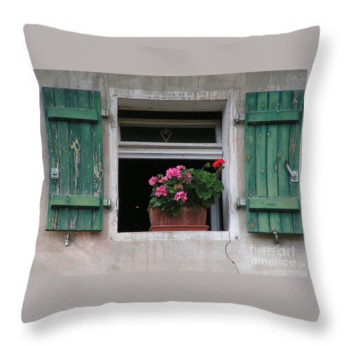 Window Throw Pillow featuring the photograph Amberg Window by Karen Granado