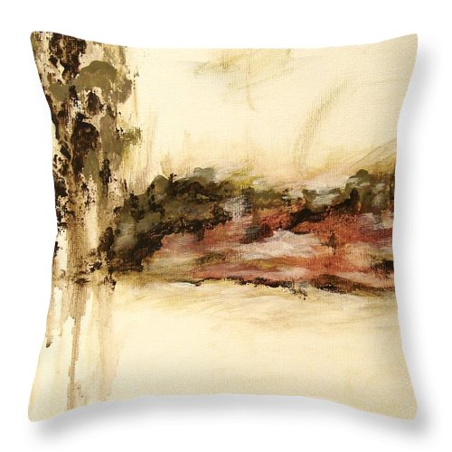 Abstract Throw Pillow featuring the painting Ambiguous by Itaya Lightbourne