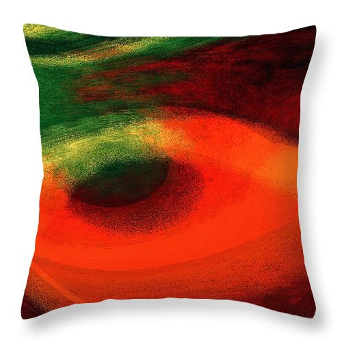 Color Throw Pillow featuring the digital art Ambrelia by Max Steinwald