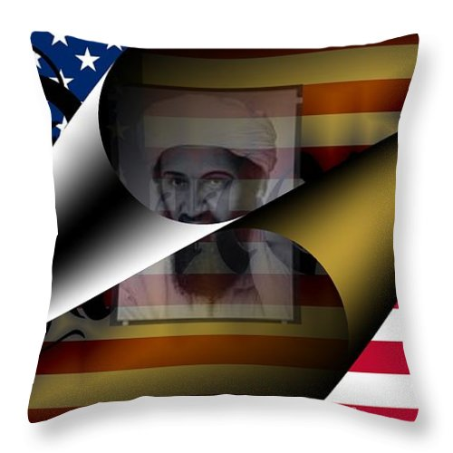 Obama Throw Pillow featuring the digital art America May 2011 by Helmut Rottler
