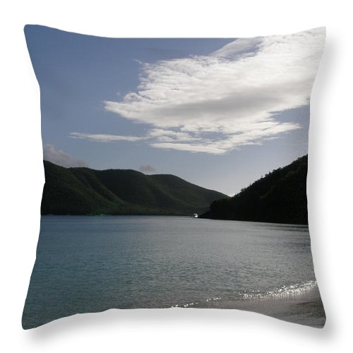 Ocean Throw Pillow featuring the photograph America Point Cinnamon Bay St John Usvi by Kimberly Mohlenhoff