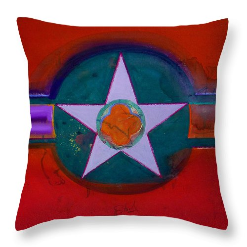Star Throw Pillow featuring the painting American Chinoiserie by Charles Stuart