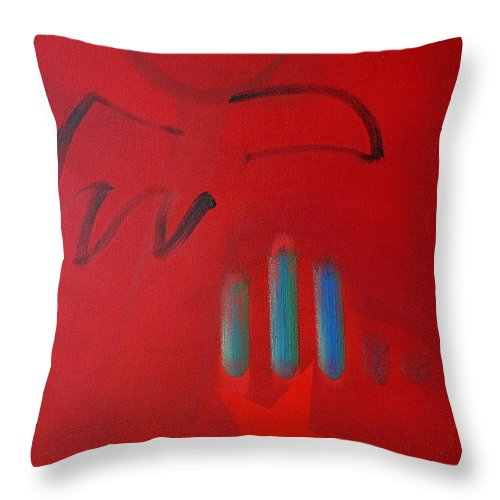 Native American Throw Pillow featuring the painting American Eagle by Charles Stuart