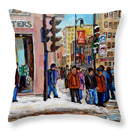 American Eagle Outfitters Throw Pillow featuring the painting American Eagle Outfitters by Carole Spandau