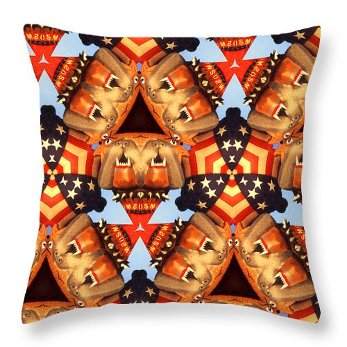 American Throw Pillow featuring the mixed media American Elections 2016 by Peter Potter