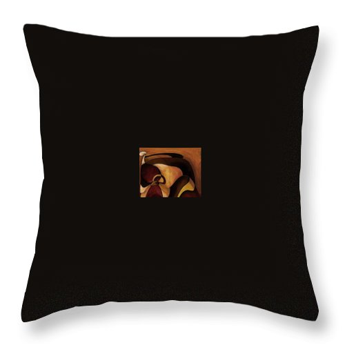 American Indian Girl Throw Pillow featuring the painting American Indian Girl by Jill English
