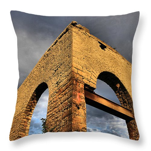 Empty Throw Pillow featuring the photograph American Industry by DJ Florek
