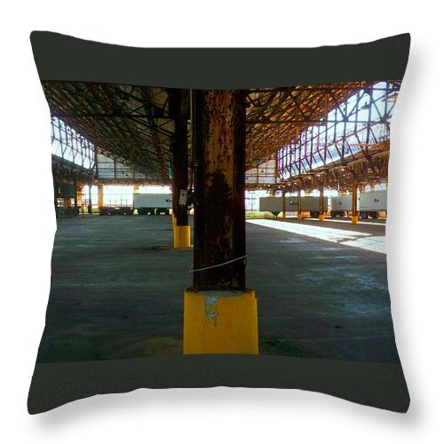 Akers Throw Pillow featuring the photograph American Industry by Edmund Akers