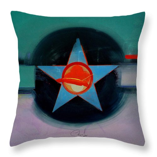 Star Throw Pillow featuring the painting American Landscape by Charles Stuart