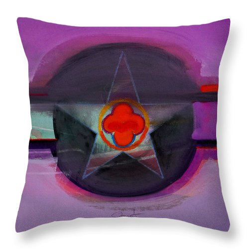 Star Throw Pillow featuring the painting American Lilac by Charles Stuart