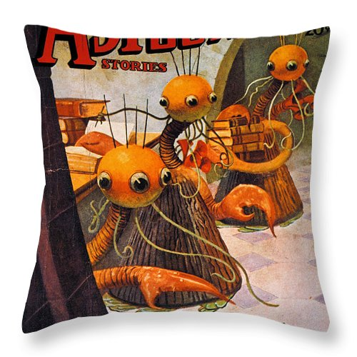 1936 Throw Pillow featuring the photograph American Magazine Cover by Granger