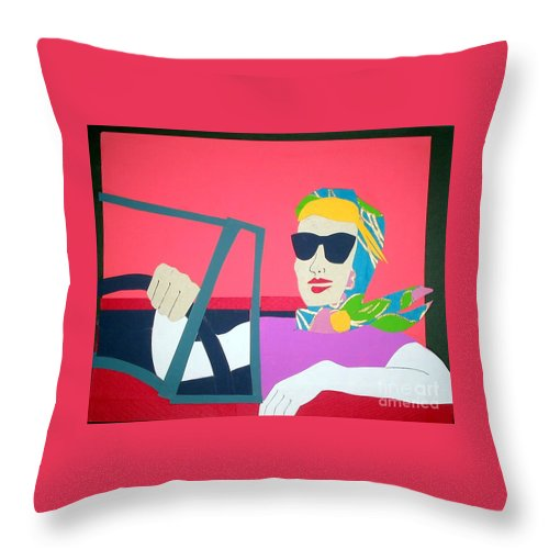 Scarf Throw Pillow featuring the mixed media American Mask by Debra Bretton Robinson