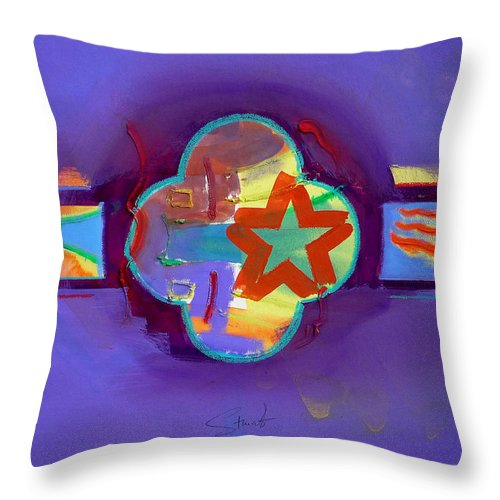 Star Throw Pillow featuring the painting American Neon by Charles Stuart