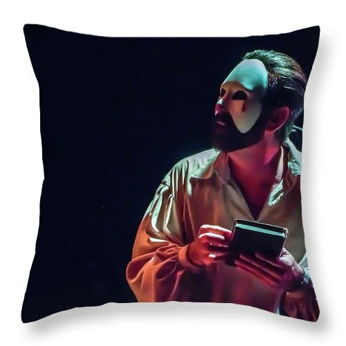 Live Theater Throw Pillow featuring the photograph American Phantom by Alan D Smith