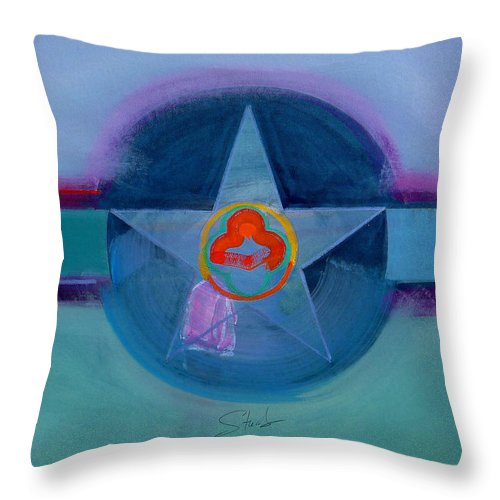 Star Throw Pillow featuring the painting American Spiritual by Charles Stuart
