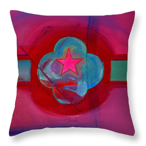 Star Throw Pillow featuring the painting American Spiritual Decal by Charles Stuart