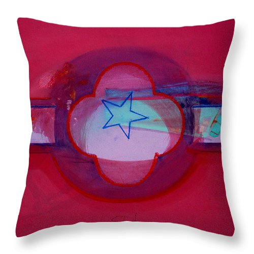 Star Throw Pillow featuring the painting American Star Of The Sea by Charles Stuart