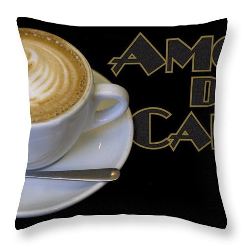 Coffee Throw Pillow featuring the photograph Amore Del Caffe Poster by Tim Nyberg