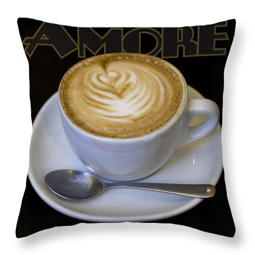 Coffee Throw Pillow featuring the photograph Amore Poster by Tim Nyberg
