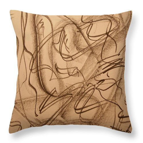 Abstract Art Lines Throw Pillow featuring the drawing Amoror by David Barnicoat